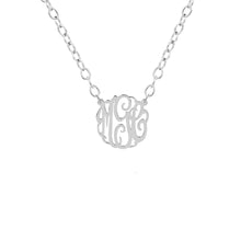 "Load image into Gallery viewer, Sterling Silver 5/8"" Monogram Split"