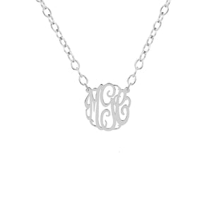 "Sterling Silver 5/8"" Monogram Split"