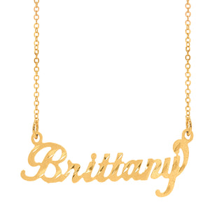 Gold Brittany Name Necklace