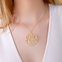 Load image into Gallery viewer, Script Monogram Pendant
