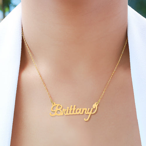 Scripted High Polished Name Necklace