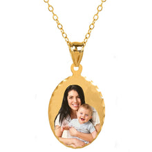 Load image into Gallery viewer, Sterling Silver Oval Color Photo Pendant