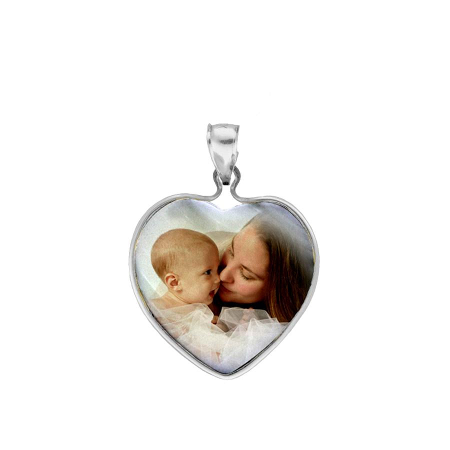 Sterling Silver Mother of Pearl Photo Pendant