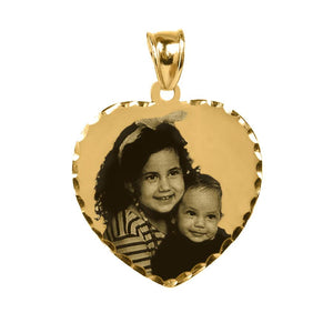 "Gold 7/8"" Heart Photo Pendant"