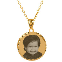 Load image into Gallery viewer, Sterling Silver Round Photo Pendant