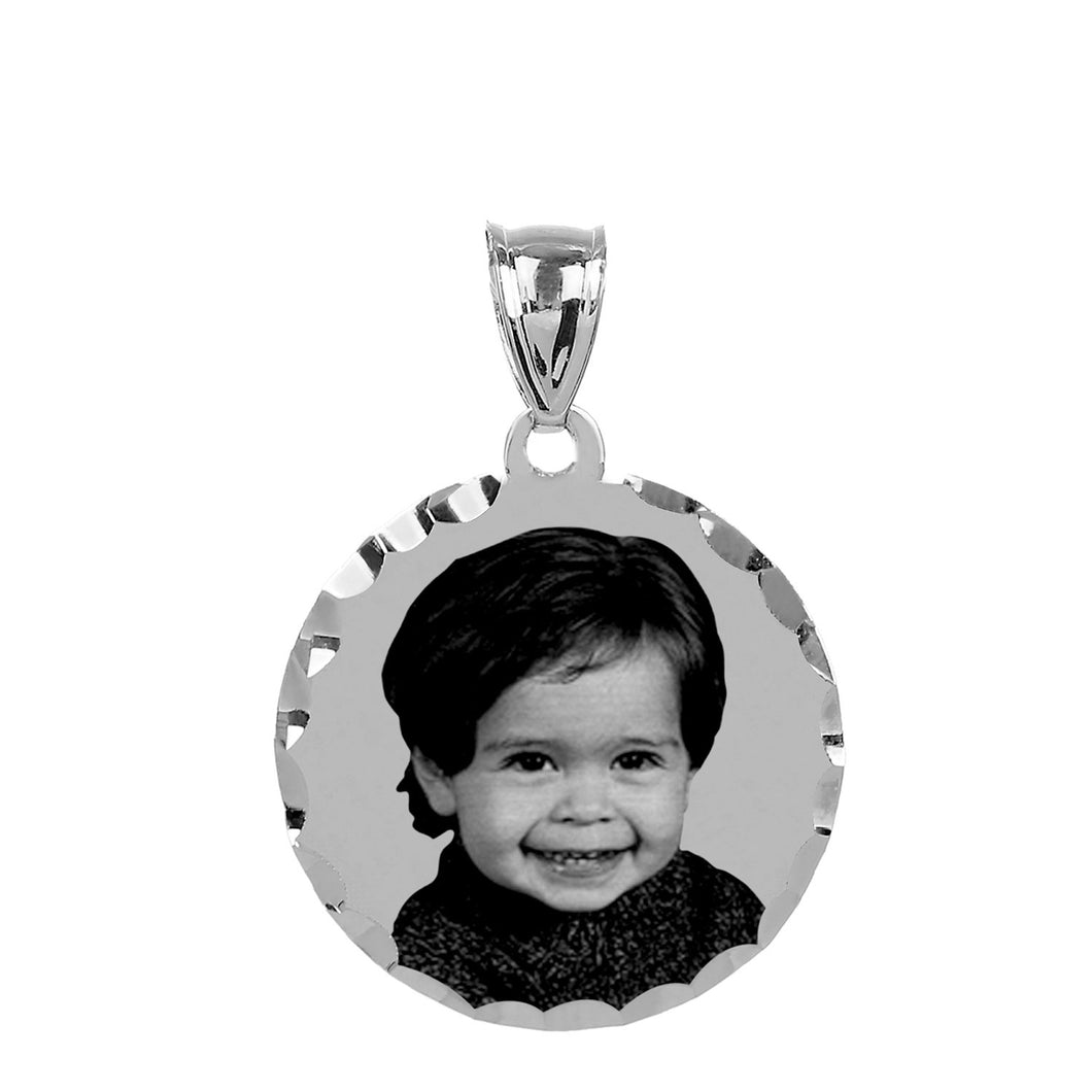 Sterling Silver Round Photo Pendant