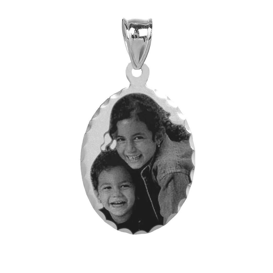 Sterling Silver Oval Photo Pendant