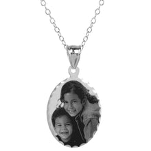 Load image into Gallery viewer, Sterling Silver Oval Photo Pendant