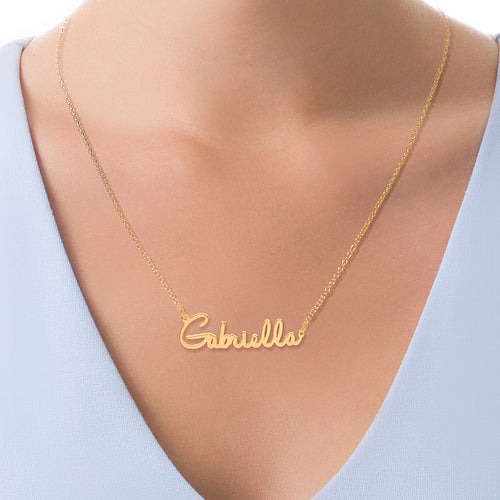 Scripted Name Necklace