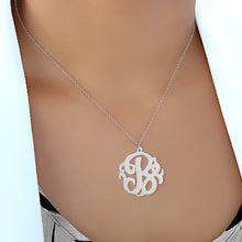 Load image into Gallery viewer, Sterling Silver Monogram Initial Necklace