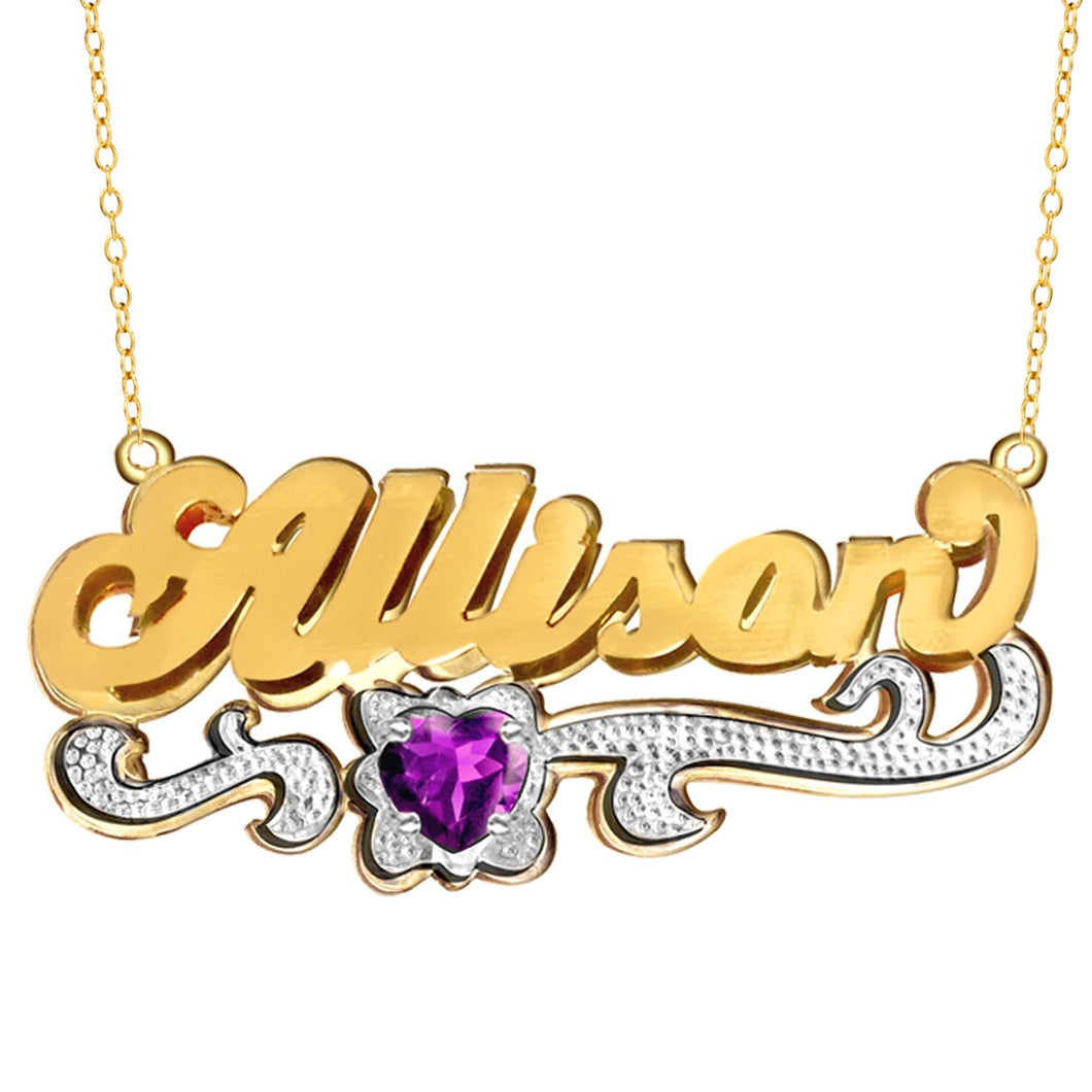 Gold Double Plated Name