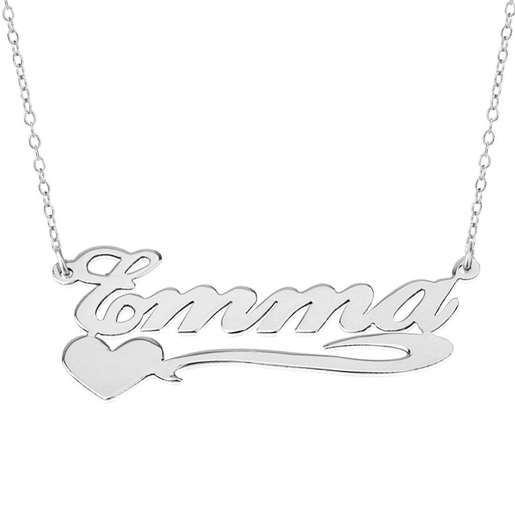 Sterling Silver Emma Name Necklace