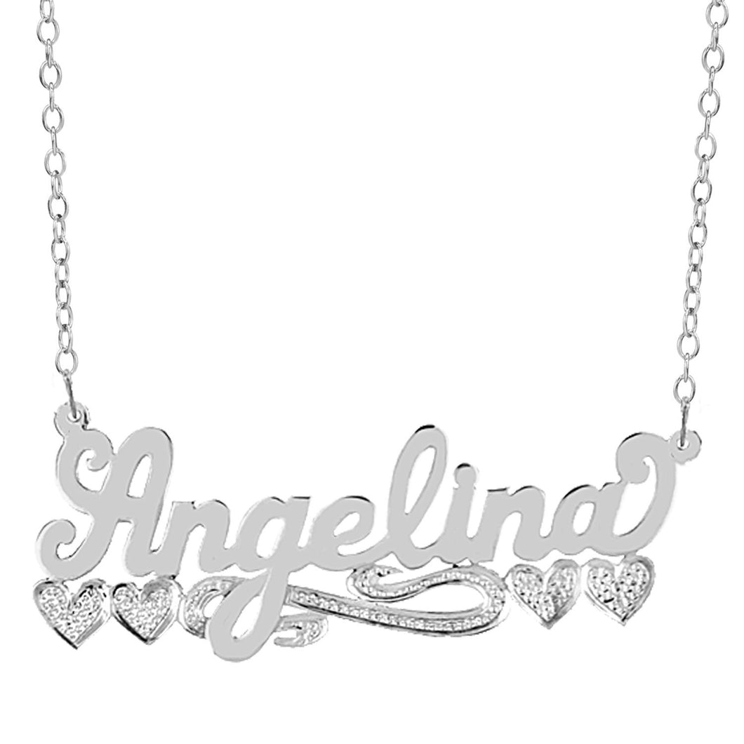 Sterling Silver Angelina Name Necklace