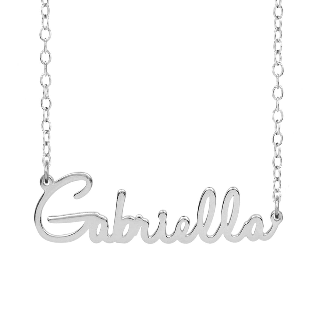Sterling Silver Gabriella Name Necklace