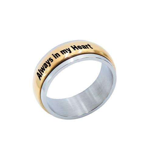 Stainless Steel Gold Tone Band