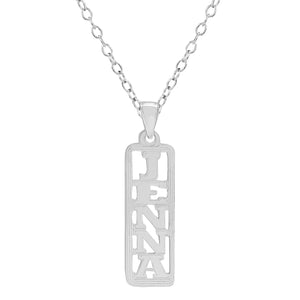 Vertical Name Pendant Necklace