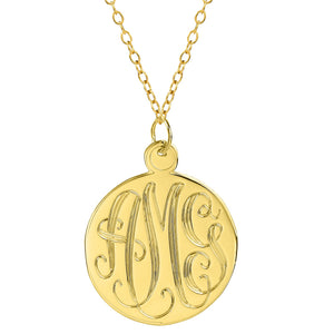 "Sterling Silver 1.25"" Hand Carved Monogram"