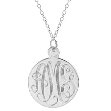 "Load image into Gallery viewer, Sterling Silver 1.25"" Hand Carved Monogram"
