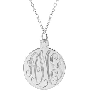 "Sterling Silver 1.5"" Hand Carved Monogram"