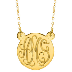 "Gold 1.25"" Hand Carved Monogram Split"