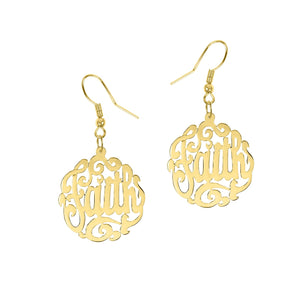 Sterling Silver Handmade Script Monogram Earrings