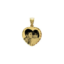 "Load image into Gallery viewer, Gold 5/8"" Heart Photo Pendant"