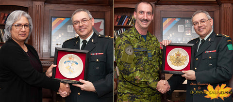 Personalized to honour one's loyal and dedicated service!
