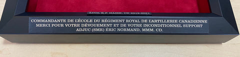 Engraved plaques in French