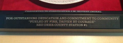 IAFF - Personalized to commemorate one's loyal and dedicated service.