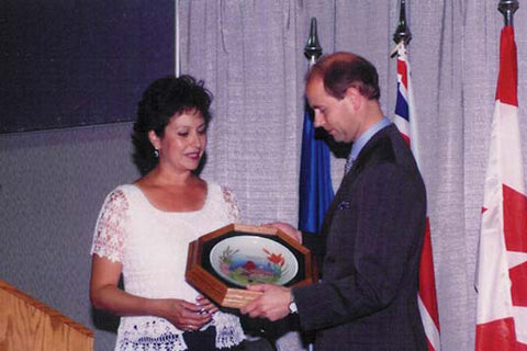 Presentation to HRH Prince Edward, October 2003