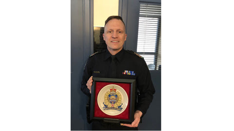 Edmonton Police Service Crest Plates - personalized to honour one's loyal and dedicated service.