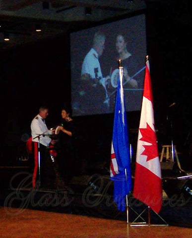 Presentation of the VERY first Canadian Forces Badge Plate  to CDS General Rick Hillier 2008