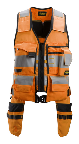 Snickers Workwear High-Vis Orange Tool Vest CL1