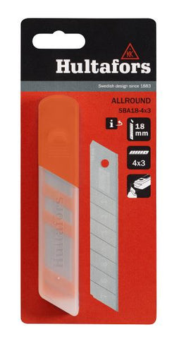 "Hultafors Allround 4"" Snap-Off Blade Refill- 4 X 3 Blade Packs"