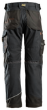 "NEW- Snickers Workwear RuffWork- Canvas+ - 32"" Inseam - Black/Black"