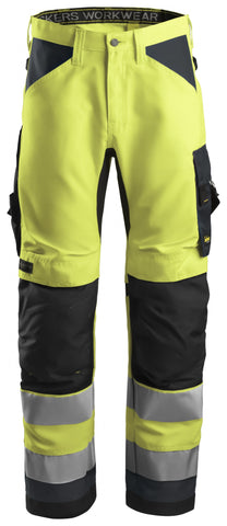 "Snickers Workwear AllroundWork Class 2 Pant - 35"" Inseam - High Vis Yellow (SPECIAL ORDER)"