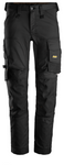 "Snickers Workwear Allround Stretch Pant, WOMEN's Specific- Slim Fit - 33"" Inseam - Black"