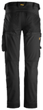"Snickers Workwear AllroundWork Stretch Pant, SLIM Fit - 30"" Inseam - Black"