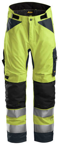 Snickers Workwear Hi-Vis AllroundWork 37.5® Insulated Pants- Yellow