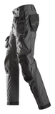 "Snickers Workwear Flexi Floorlayer Pants+ Holster Pockets - 35"" Inseam - Grey/Black"