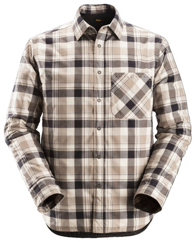 Snickers Workwear RuffWork Insulated Padded Flannel- Khaki