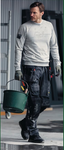 "Snickers Workwear Flexi Floorlayer Pants+ Holster Pockets - 30"" Inseam - Grey/Black (SPECIAL ORDER)"