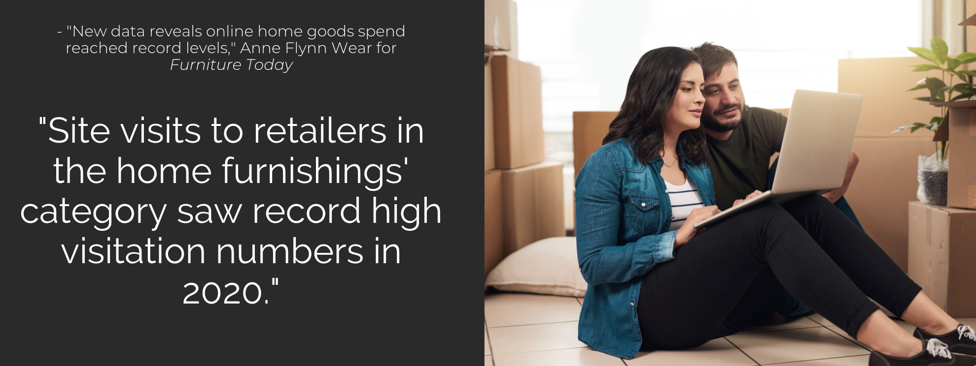 Site visits to retailers in the home furnishings' category saw record high visitation