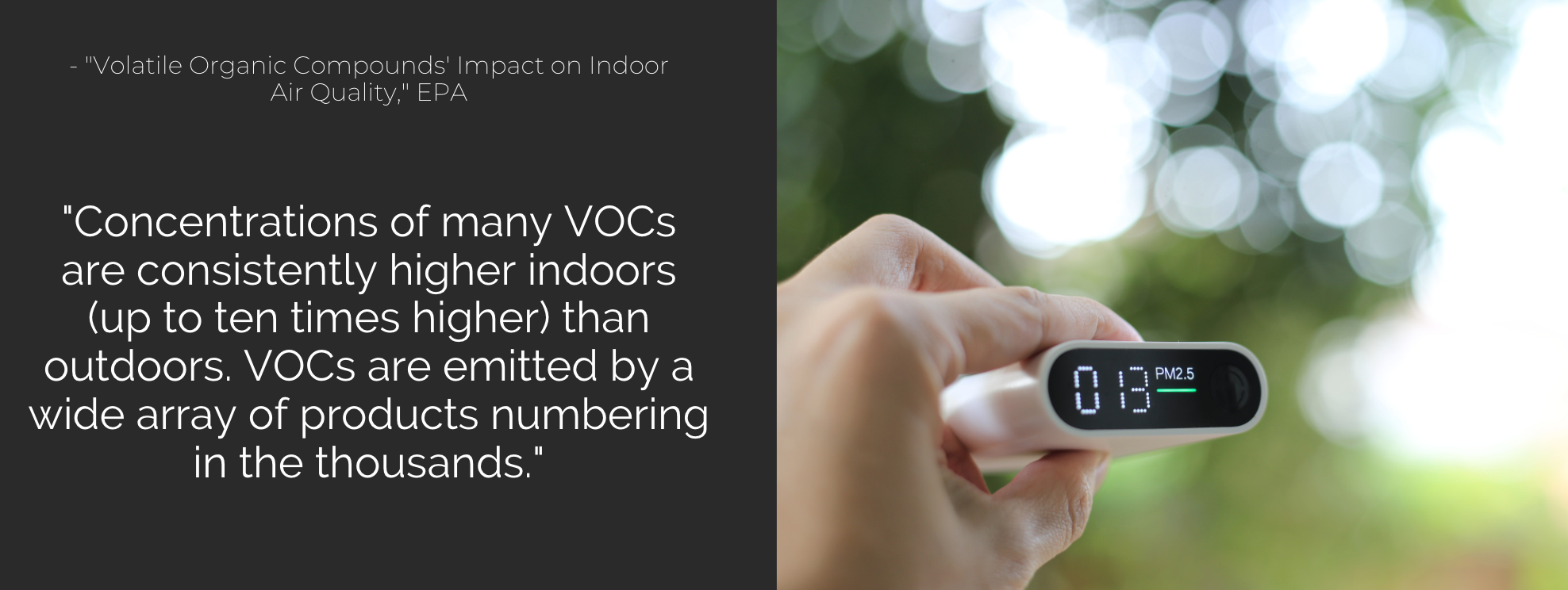 VOC exposure can cause irritated mucus membranes and so much more