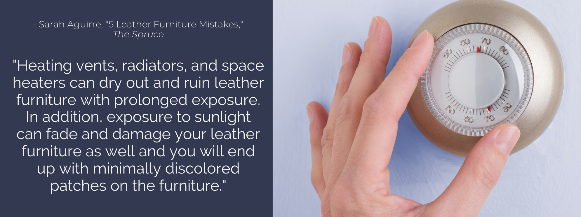 proper environment for leather