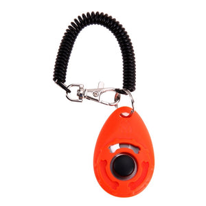 Orange-Pet Dog Training  Adjustable Sound Key Chain
