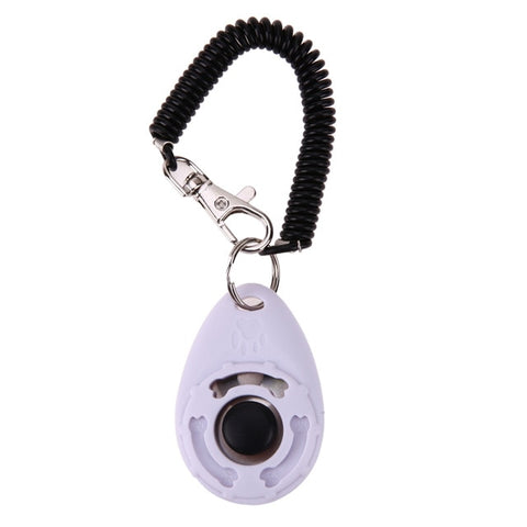 White-Pet Dog Training  Adjustable Sound Key Chain
