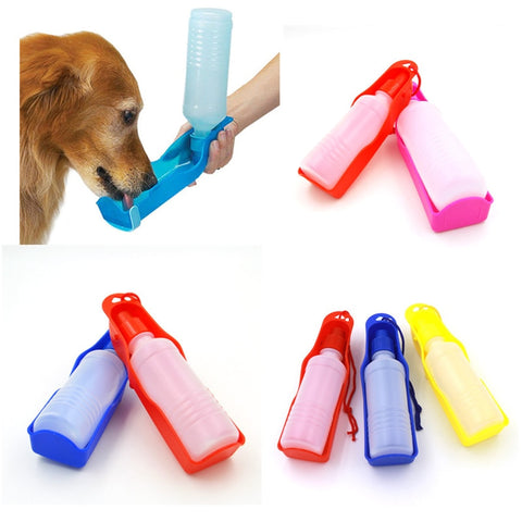 250ml Foldable Pet Dog Drinking Water Bottles
