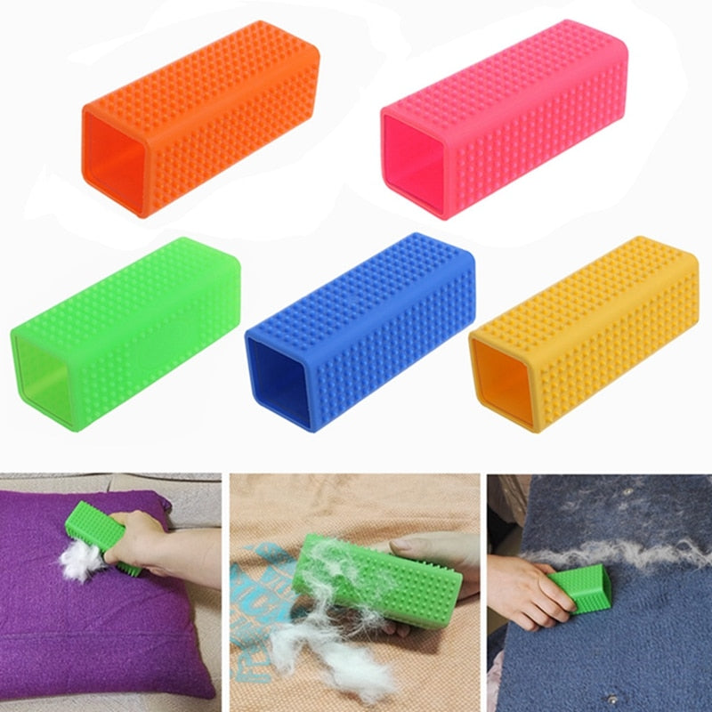 Blue -Pet Silicone Massage Grooming Cleaner
