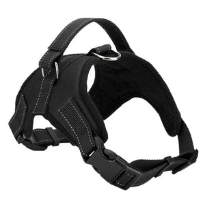 Black-Adjustable Pet Puppy Large Dog Harness